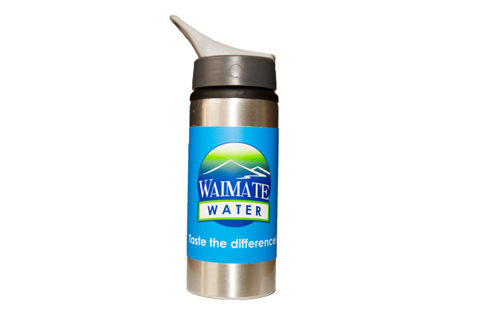 Waimate Water Bottles.   Waimate Water Bottles with carry clip.  Three sayings (one on each bottle)  .. Taste the difference!  .. Water with attitude!  .. How Thirsty are you!   $15.00