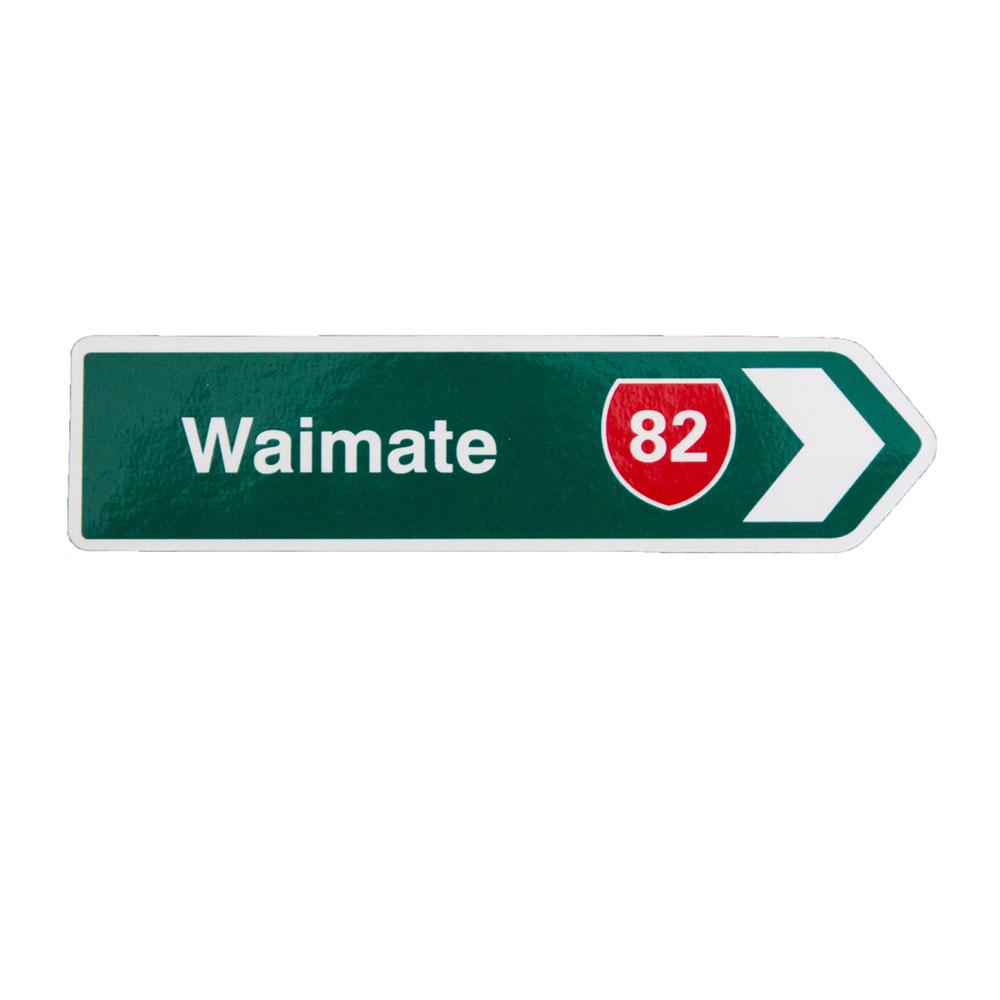 Waimate Roadsign Magnet.  12cm x 3cm.   $3.00