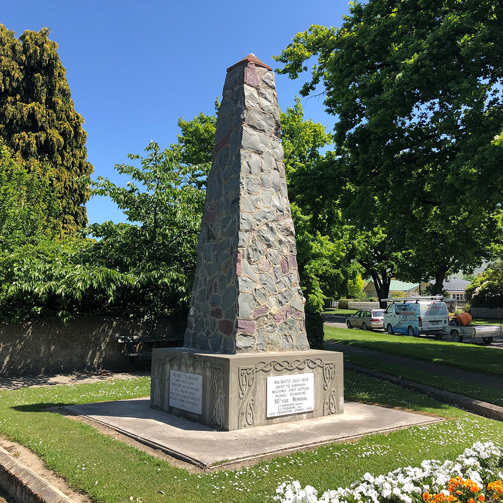 Chief Te Huruhuru and Michael Studholme Monument