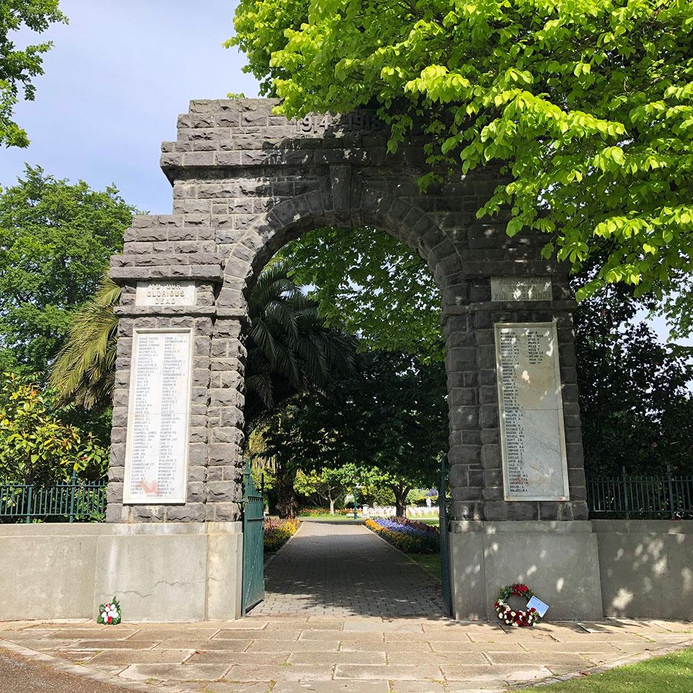 Memorial Gates at Victoria Park