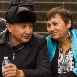Grand Chief Stewart Phillip and Joan Phillip, First Nations Leaders