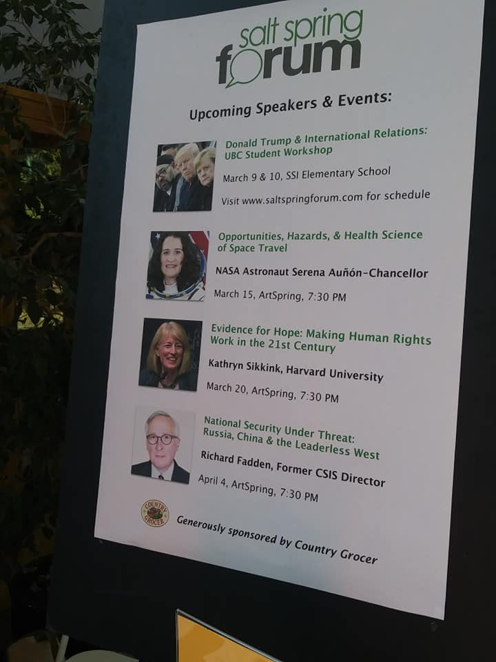 The Forum's upcoming speakers and events.
