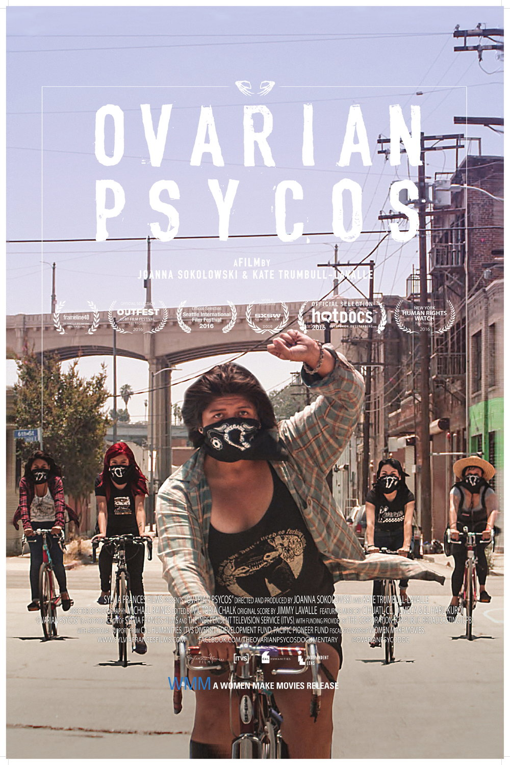 Ovarian Psycos    Riding at night through streets deemed dangerous in Eastside Los Angeles, the Ovarian Psycos use their bicycles to confront the violence in their lives. At the helm of the crew is founder Xela de la X, a single mother and...   Read More