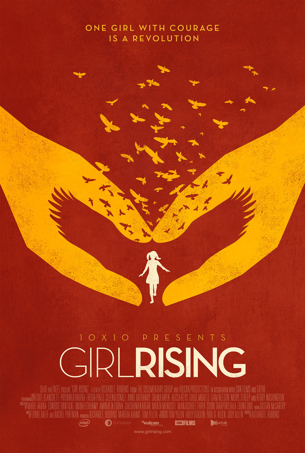 Girl Rising    This powerful film spotlights the unforgettable stories of girls living in the developing world, striving beyond circumstance and overcoming nearly insurmountable odds to achieve their dreams...   Read More