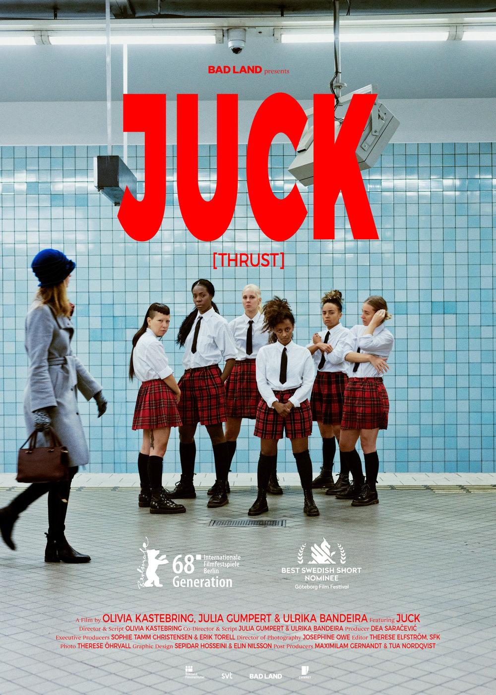 Juck    《JUCK》 是一部时长十七分钟,融合了纪录片、舞蹈和虚构的一部电影。影片描绘了名为JUCK舞团的一群女性,她们通过一部如同病毒般扩散的影片在2013年扬名世界。 JUCK在瑞典语中是HUMP(小山丘)的意思,她们创新的演出冲破了我们以往审视女性身体的方式……  阅读更多