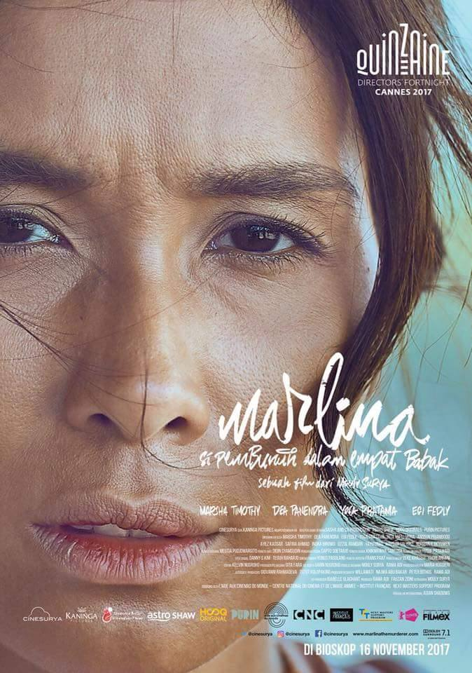 Marlina the Murderer in Four Acts    Marlina lives quietly in Sumba until one day a man named Markus and his gang try to rob her house and she kills him. Eventually, she is haunted by Markus, and her life turns in 180 degrees...   Read More