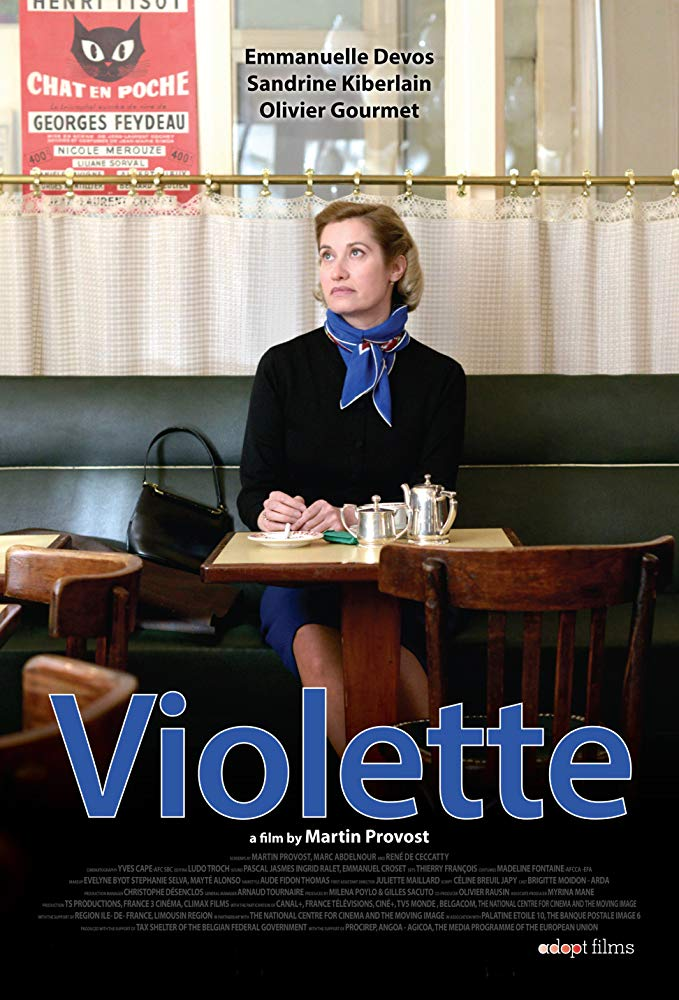 Violette    Born out of wedlock early in the last century, impoverished and unloved Violette Leduc meets Simone de Beauvoir in post war Saint-Germain-des-Prés. An intense lifelong relationship develops between the two women authors, based on Violette's quest for freedom through writing and on Simone's conviction that she holds in her hands the destiny of an extraordinary writer.