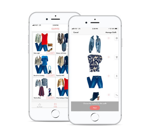 Look-Builder Platform - An extension of the virtual closet, your store associates can use our Look-Builder Platform to style looks for clients using both their existing wardrobe and new, suggested pieces, showing them how their purchase will work with their previous investments. A brand new way to sell clothes.