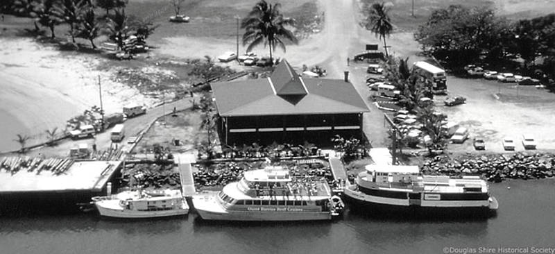 Princes Wharf with the 'Miss Doreen', the 'Martin Cash' and the first 'Quicksilver' 1979 |  Douglas Shire Historical Society