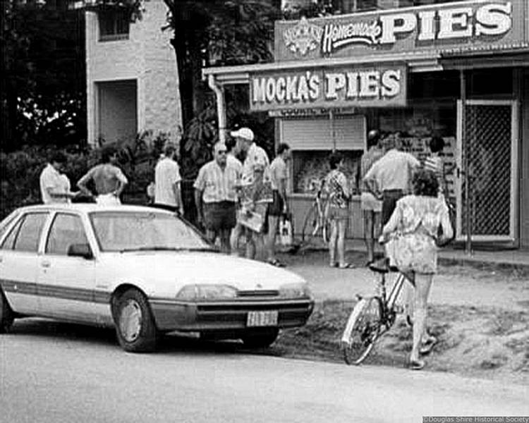 Mocka's Pie Shop, Macrossan St, 1980s    Douglas Shire Historical Society