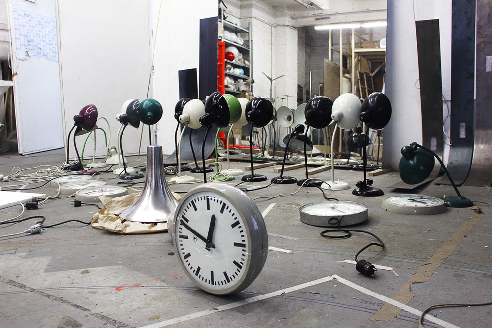 Alicija Kwade's Studio in Berlin for  LookAtMe