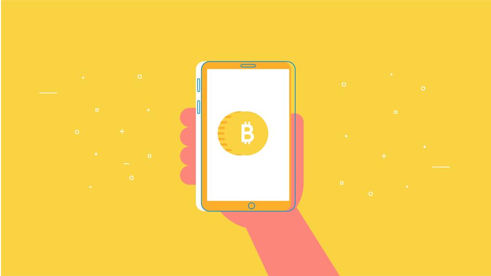 Phone using bitcoin