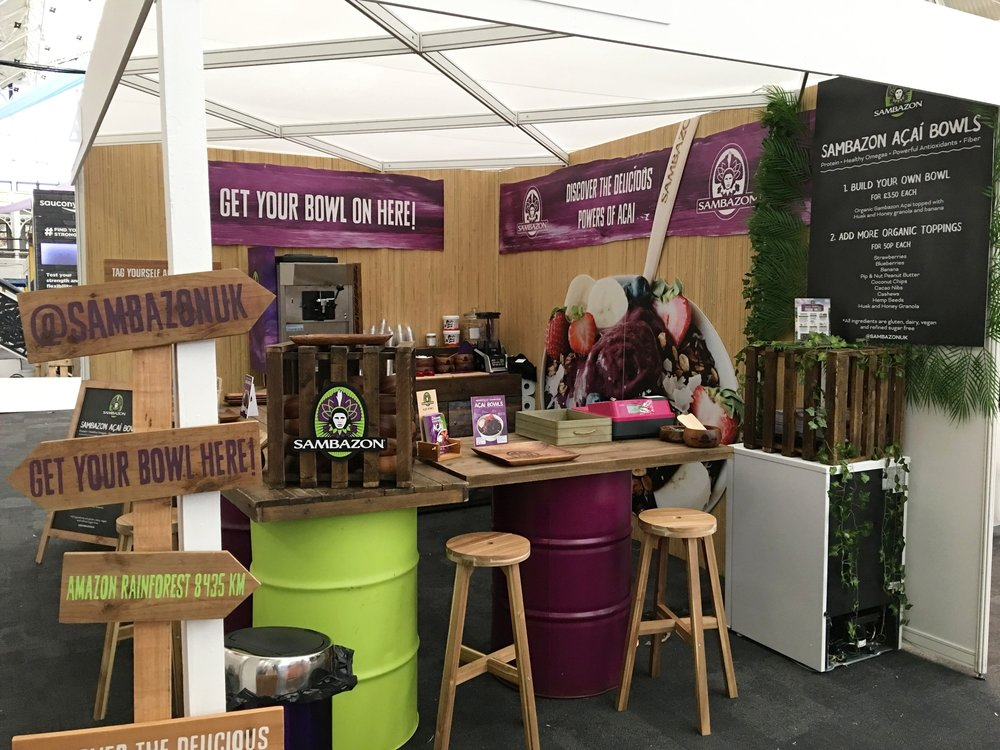 Sambazon Trade Show Stand