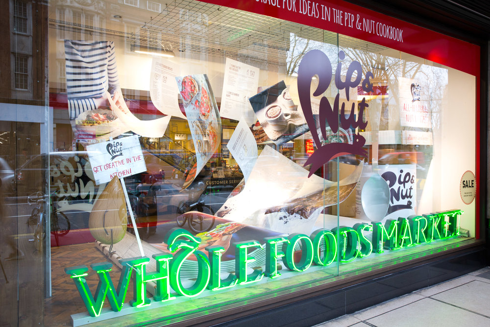 Pip&Nut Whole Foods Window Display