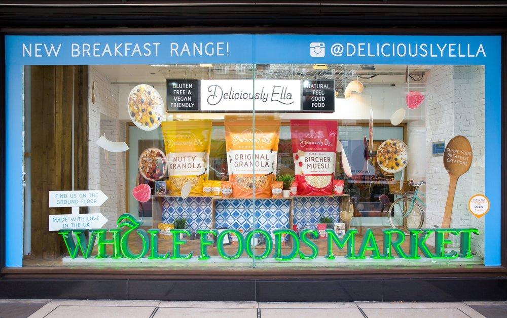 Deliciously Ella Whole Foods Window