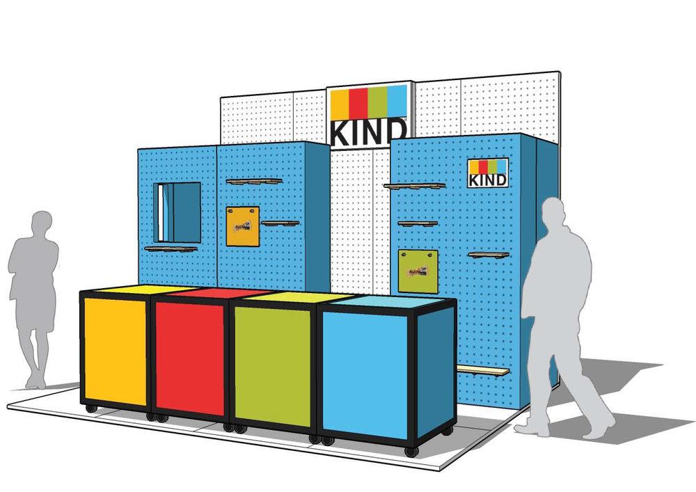 KIND event stand design render