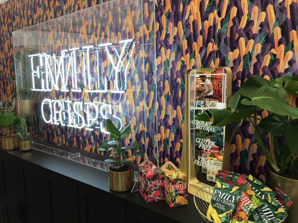 Emily Crisps Event Pop-up Site