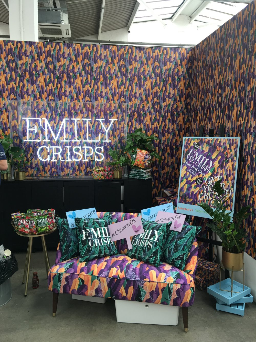Emily Crisps Trade show stand design & build