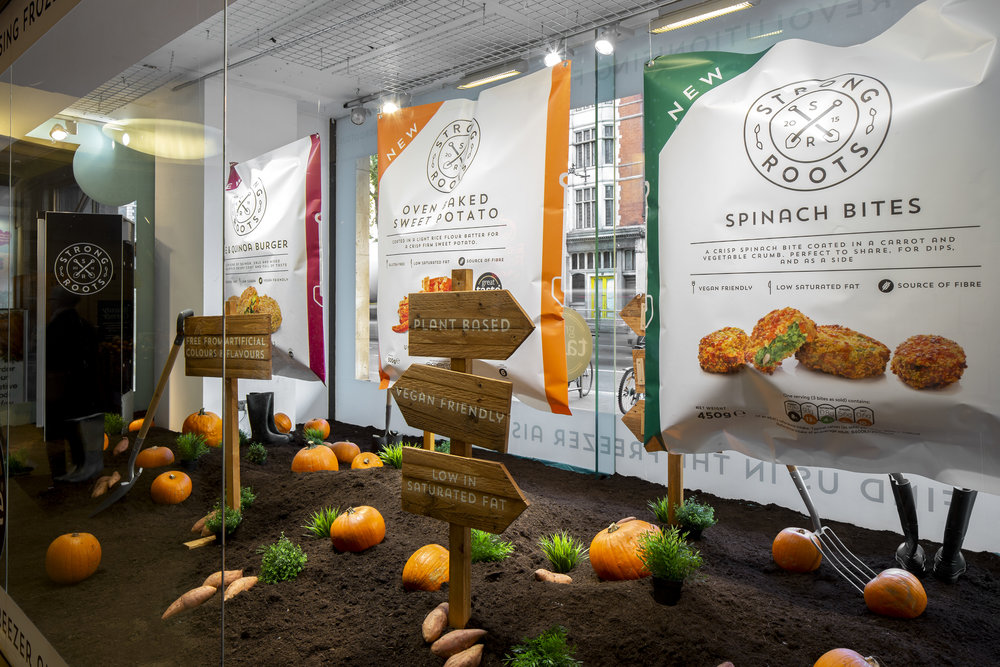 Strong Roots _ Whole Foods Retail Window