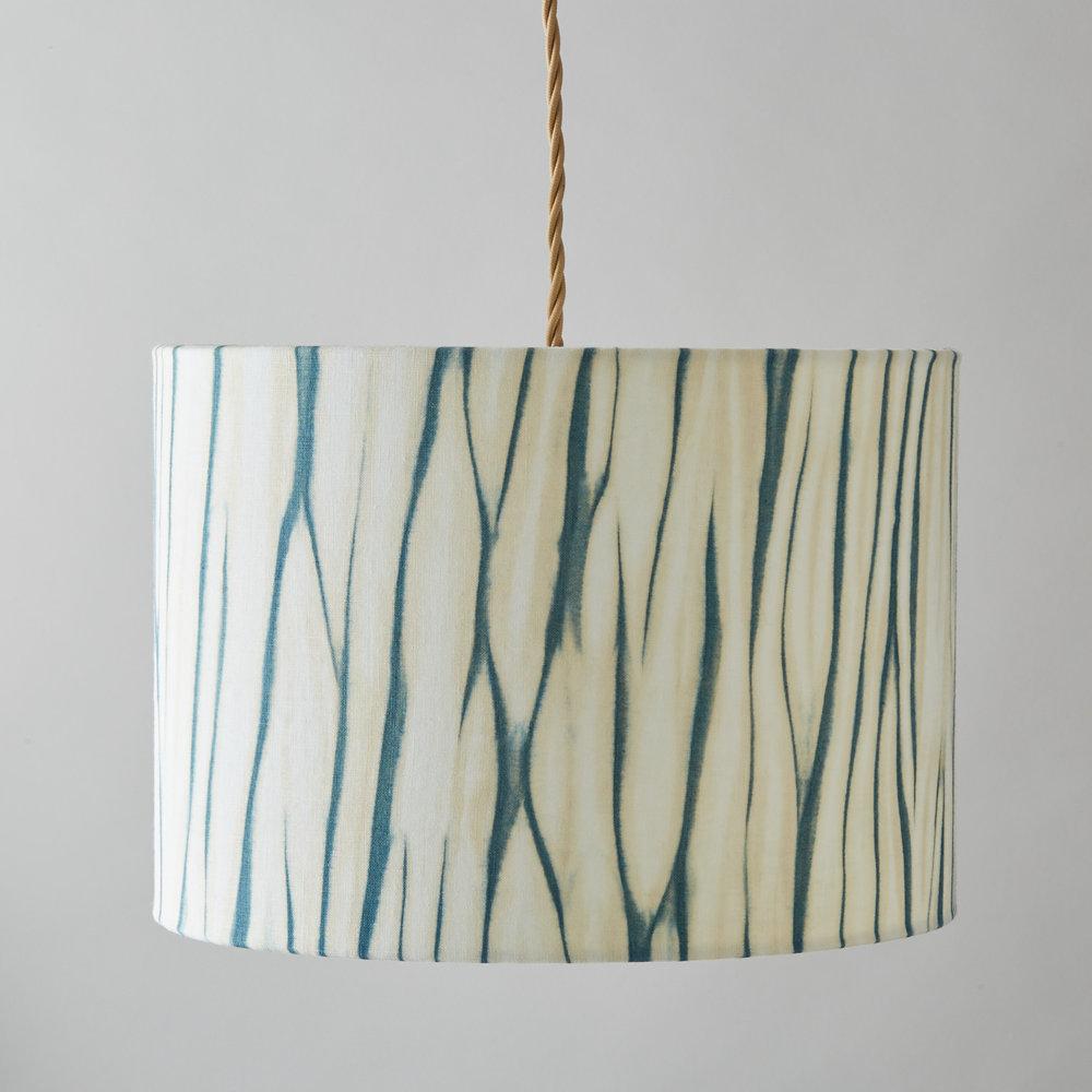 Myrobalan-Indigo-teal-gold-arashi-shibori-lampshade.jpg