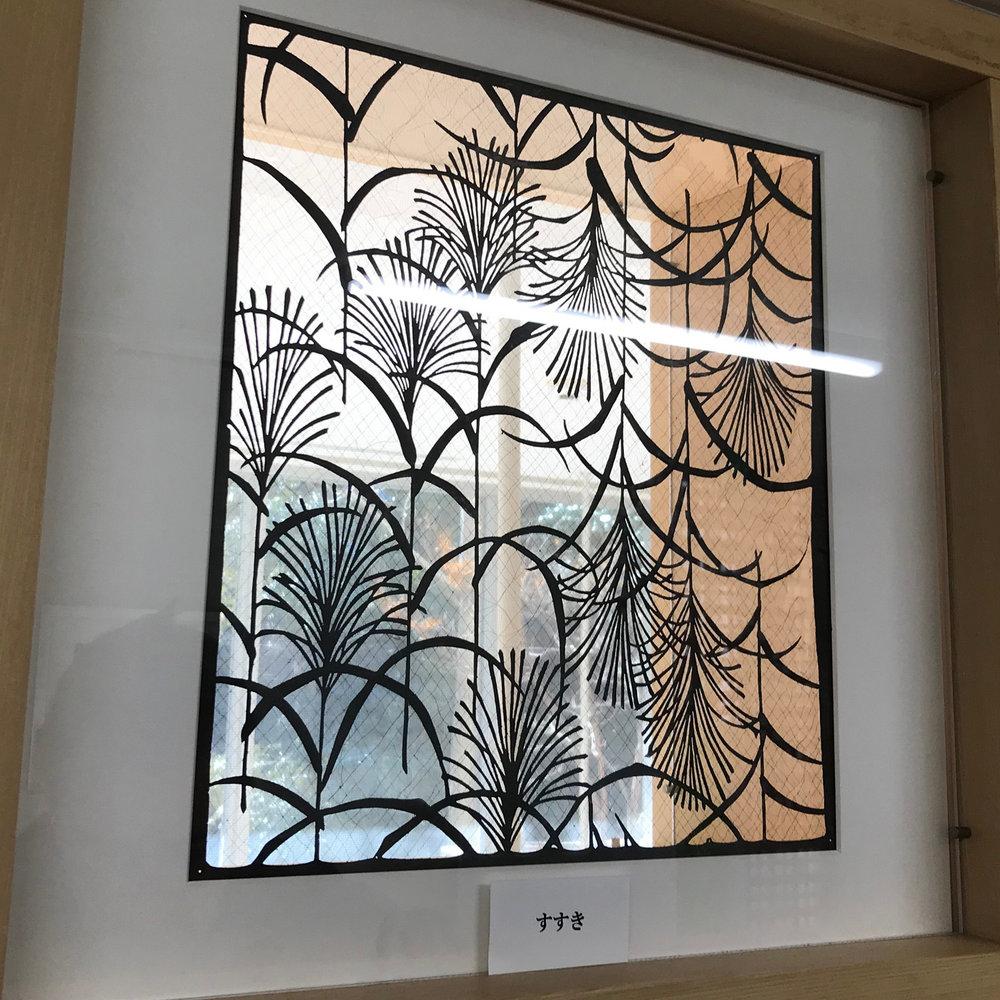 Katagami stencil - fronds