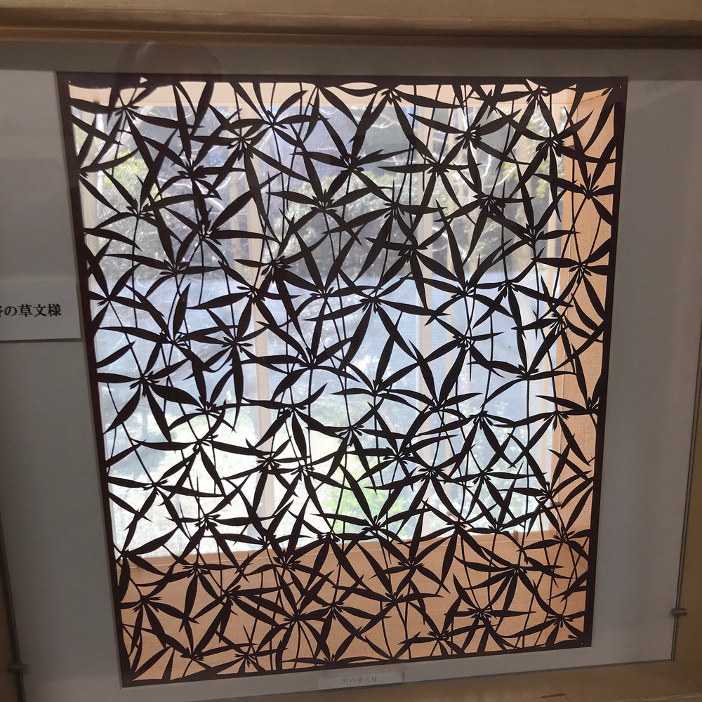 Katagami stencil - leaves
