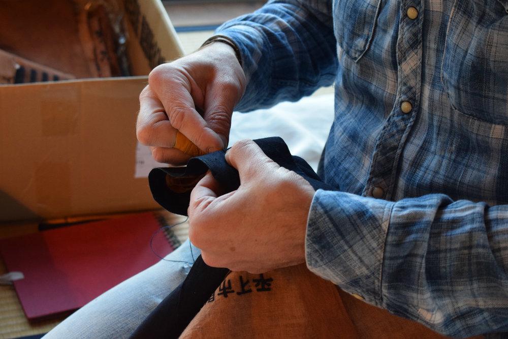 Fireman's jacket - Bryan sewing