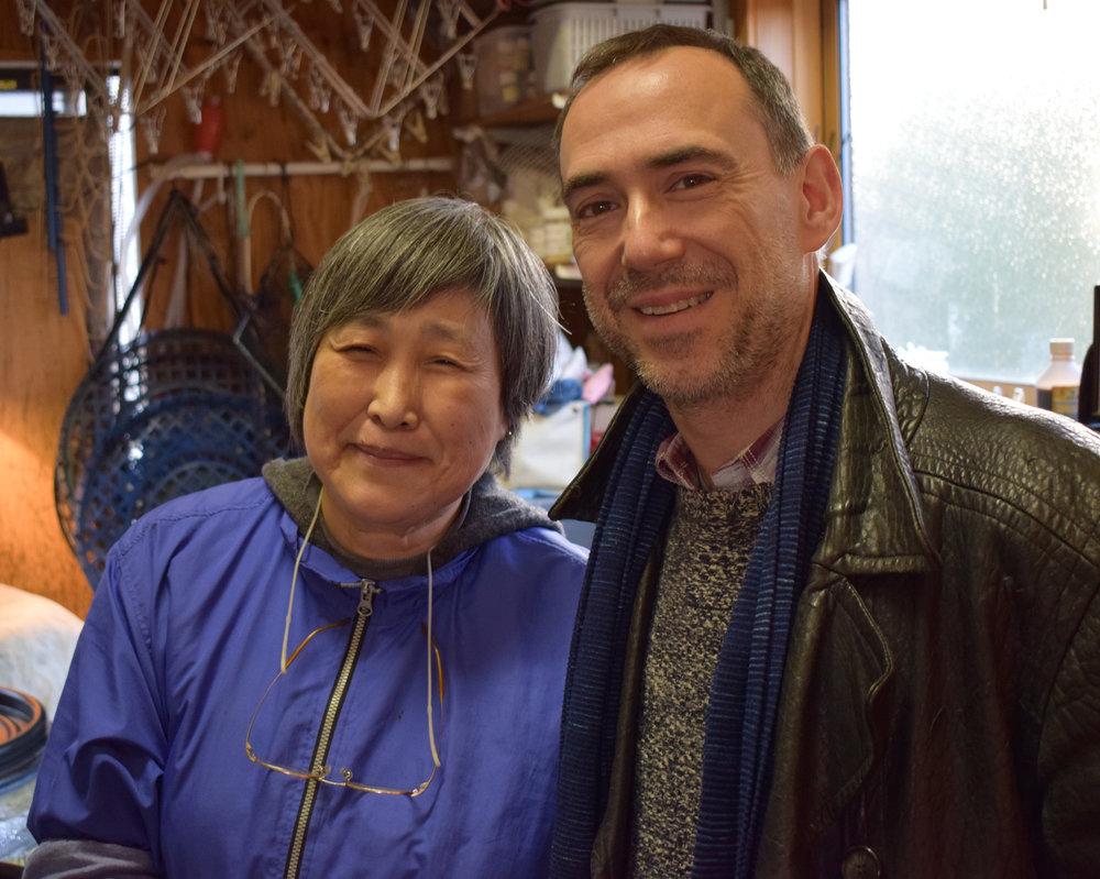 Me with Yuko Morita, master fermented indigo dyer