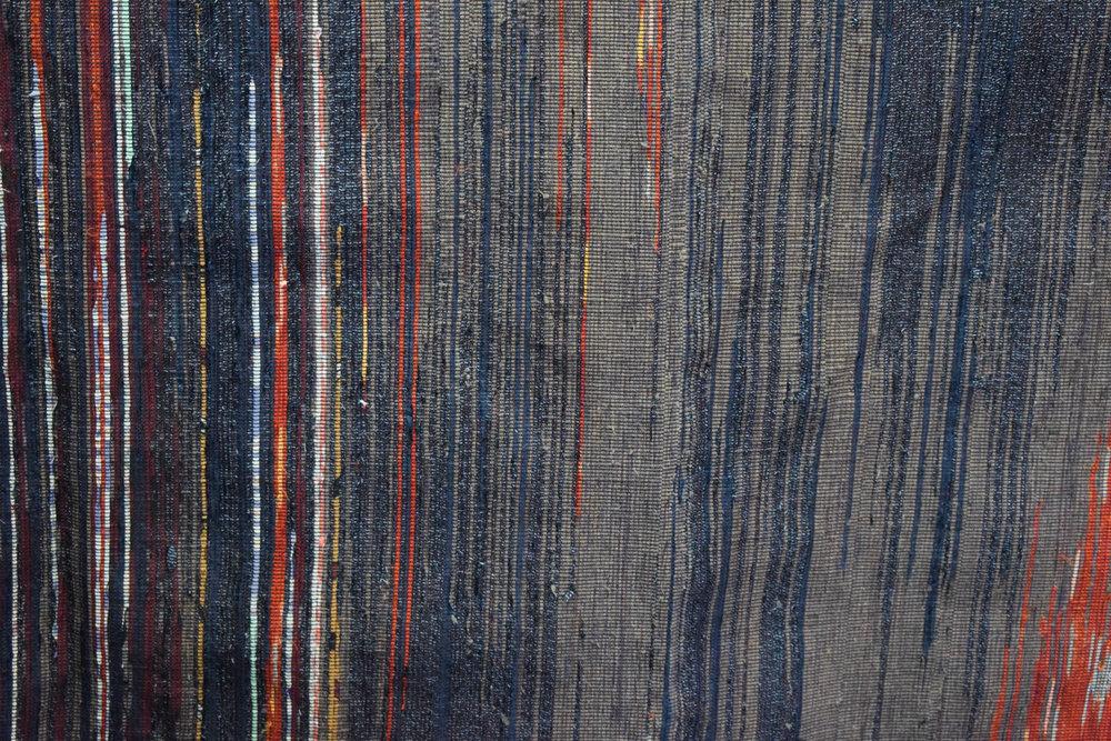 Woven indigo and colour dyed cloth