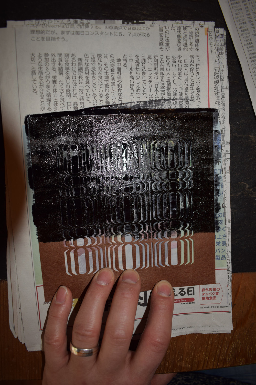 Stencil  - silk mesh 5
