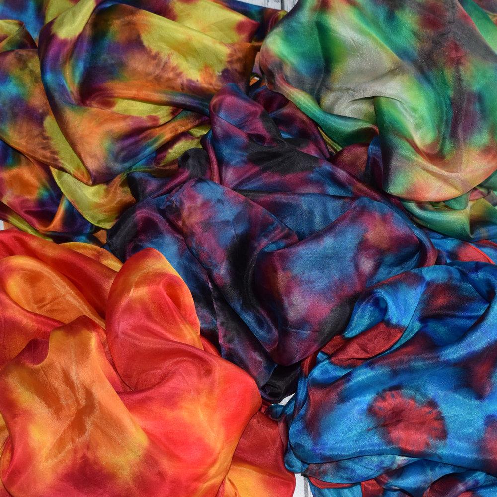 * NEW CLASS *Dye a Shibori scarf -