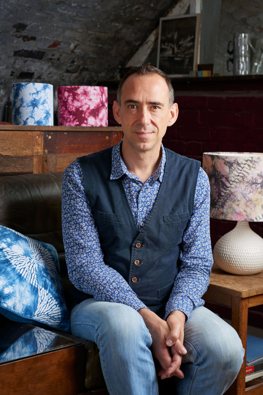Your organiser, Rob Jones - I've been a fan of Bryan's work since 2012 when I first came across his amazing blog and did his class in 2014. Thanks to Bryan's encouragement and support I changed careers to become a full-time textiles designer working with Japanese indigo and natural plant dyes, making my own Japanese inspired textiles using Shibori, Katazome stencilling and Sashiko embroidery. I've been practising Shibori for seven years now and I teach Beginner's classes in the UK, working out of my studio under an old railway arch in Hackney. I take a lot of my inspiration from geometry and intersections and I enjoy taking traditional patterns, breaking them and re-piecing them using patchwork. I love Japan and working with Bryan is always a pleasure as his knowledge of Japanese textiles and culture is extensive. I'm looking forward to working with him again on this class. It's still by far the best trip I've ever made!
