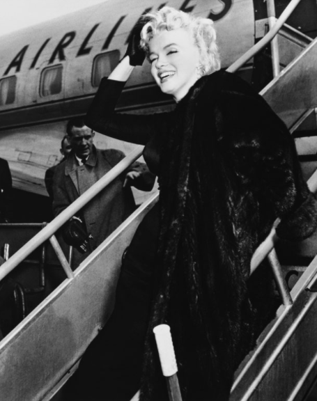 Our muse of flying glamorously - Marilyn Monroe.