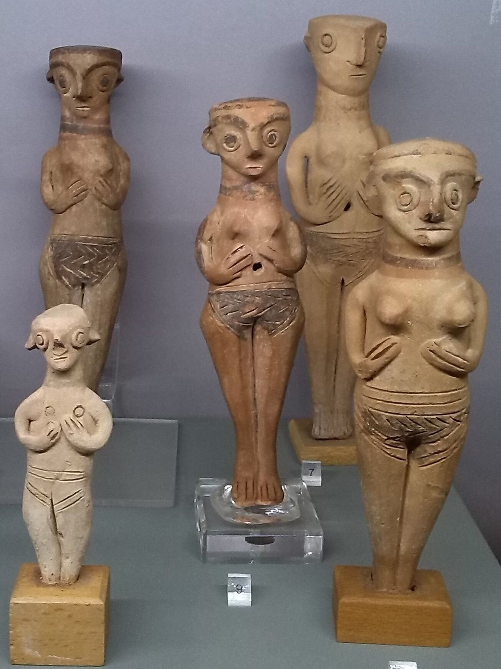 Aphrodite Female figurines with hands under breasts.jpg
