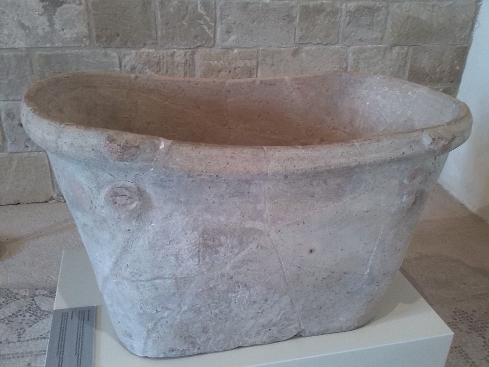 Bath from Sanctuary of Aphrodite, Kouklia, Paphos on Cyprus.
