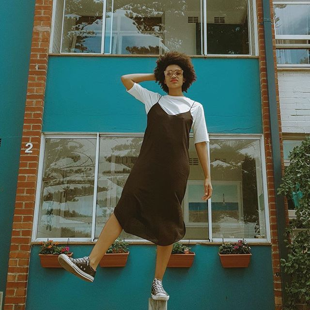 We've only got a few more black slip dresses so if you want one for summer make sure you get your hands on it now! .@robrabaro .@kelesy.pearl . . . . . . . #slowfashion #sustainablefashion #fashion #ethicalfashion #handmade #style #ethicallymade #organic #slowfashionmovement #design #atelier #sustainableclothing #handmadewithlove #ecofashion #photooftheday #handspun #itajime #khadi #ajrak #traditional #ajrakh #patterns #gotscertifiedorganiccotton #sustainable #mastercraftsmen #twotechniquesinone #summercollection #aasha #shibori #bhfyp