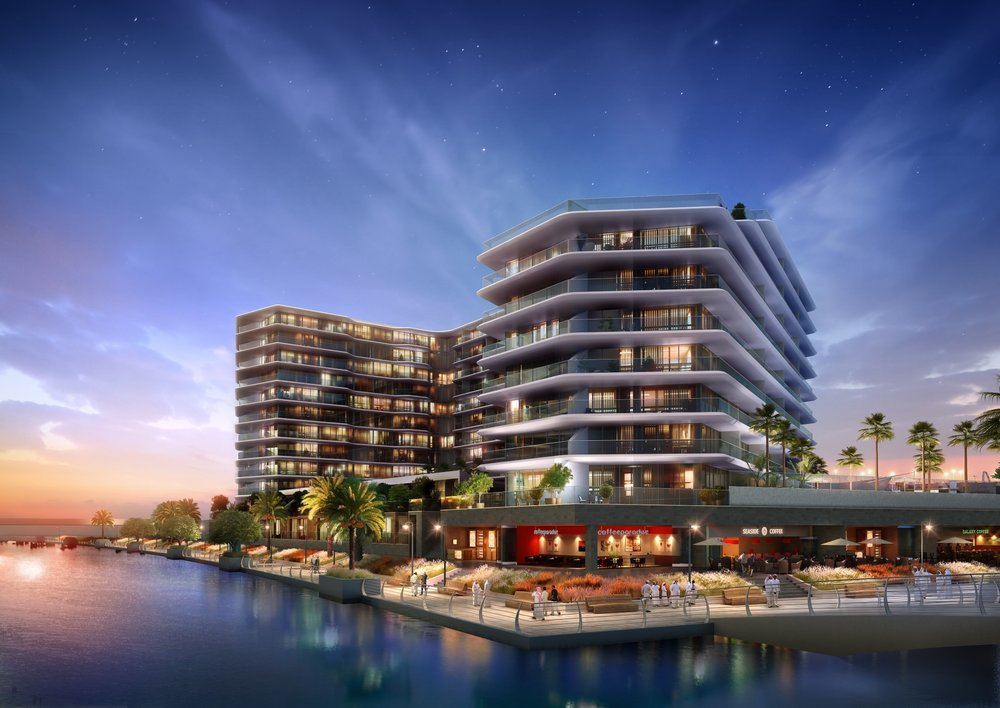 Al Raha Beach Facade by Aldar Properties
