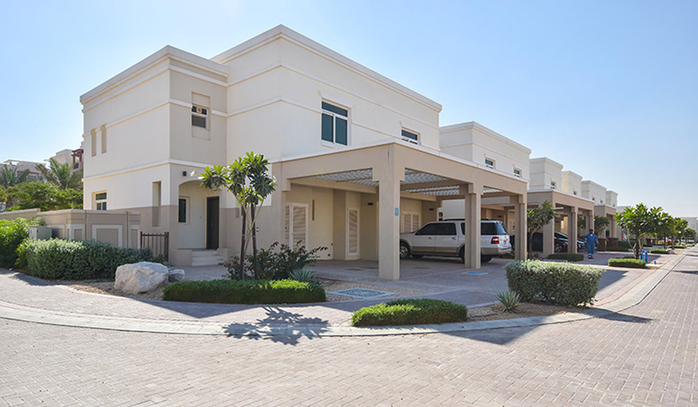 Two + One Townhouse available for rent in Al Khaleej Village, Al Ghadeer