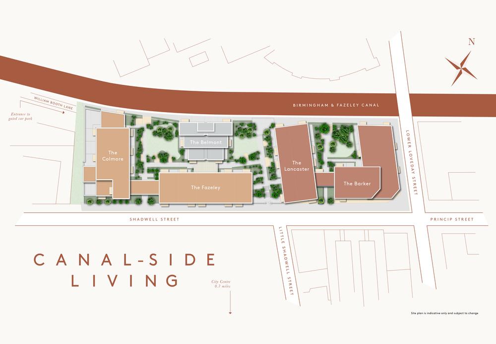 Snow Hill Wharf site plan