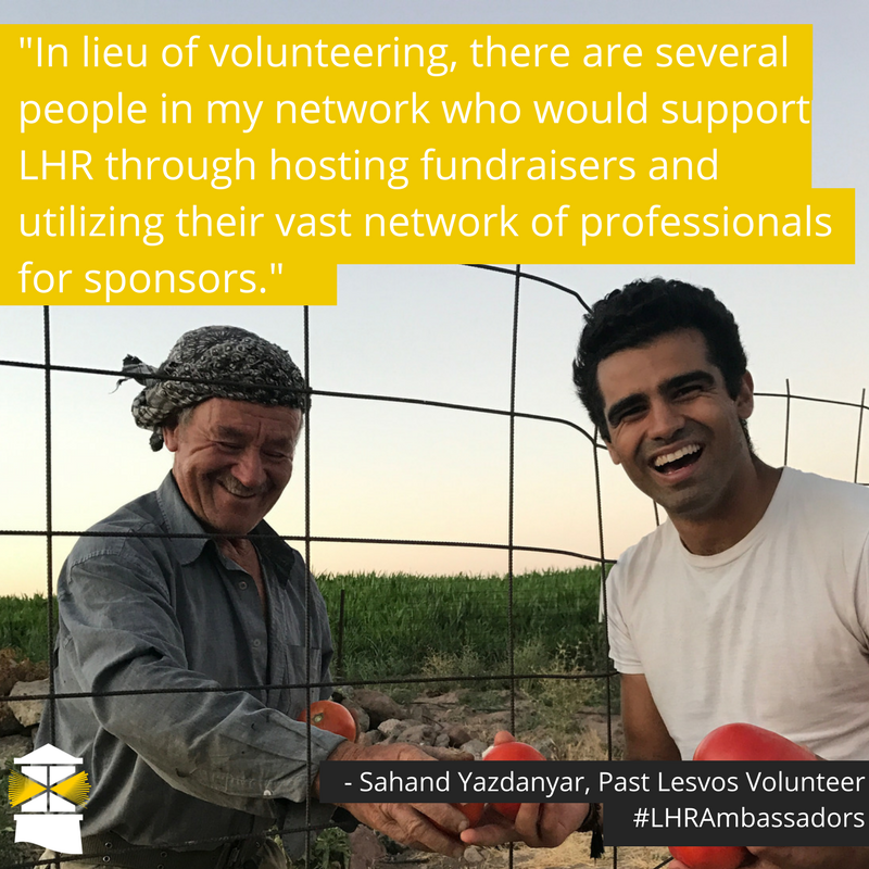 """There are several people in my network that truly care about the refugee crisis but their professional lives simply don't give them the time to provide long term volunteer support. In lieu of their own volunteer (3).png"