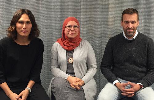 Johan Mellström, Fazeela Selberg Zaib and Gunnar Björklund