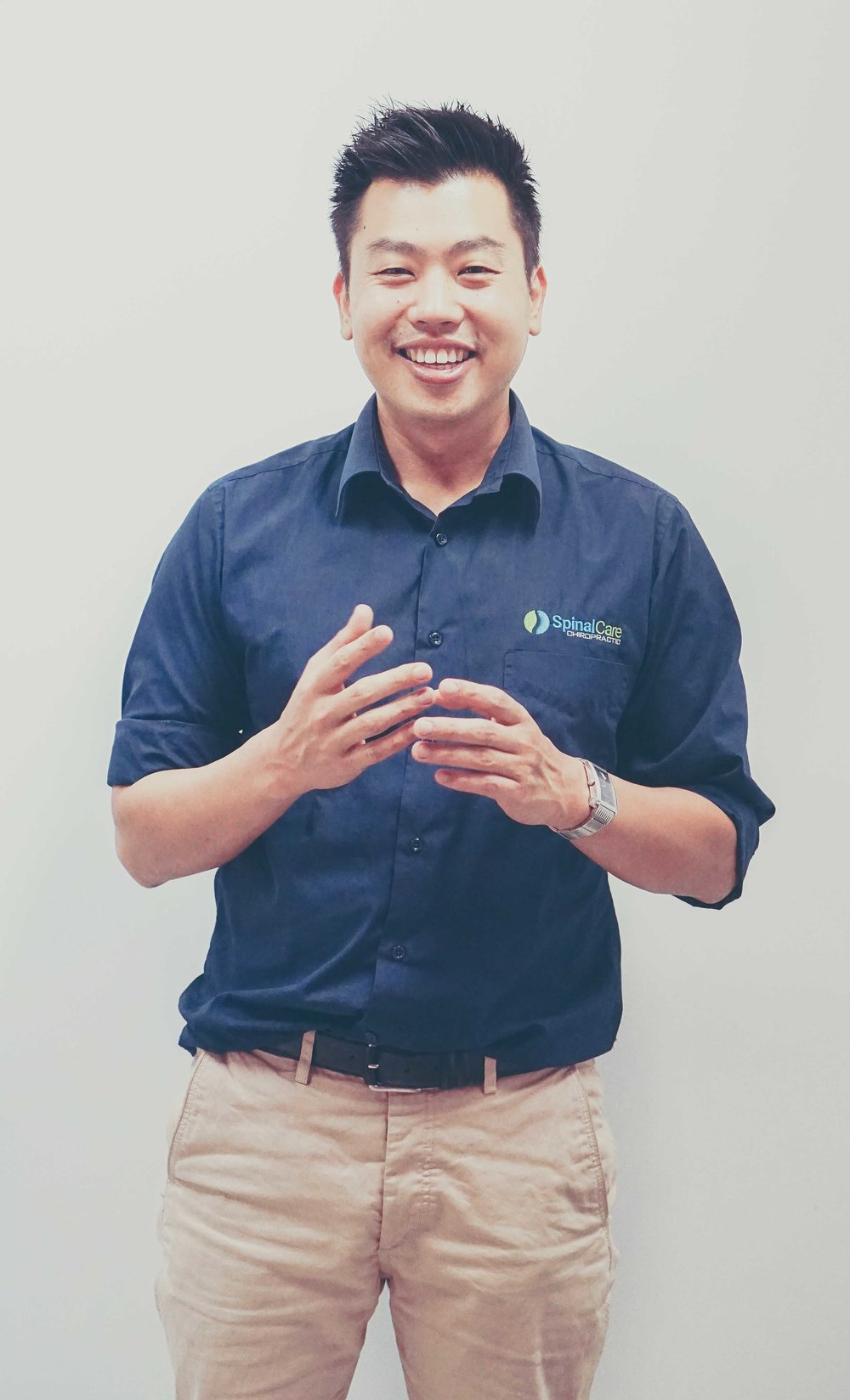 "Hi! I'm Dr Stephen Yoon. - ""I'm the founder of SpinalCare and the principal Chiropractor at our centre.I am passionate about improving posture and educating you on your spine, and how your body works and get results."""