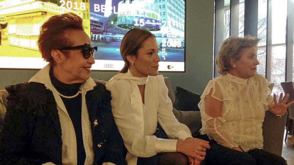 Margarita Irún, Ana Ivanova y Ana Brun.