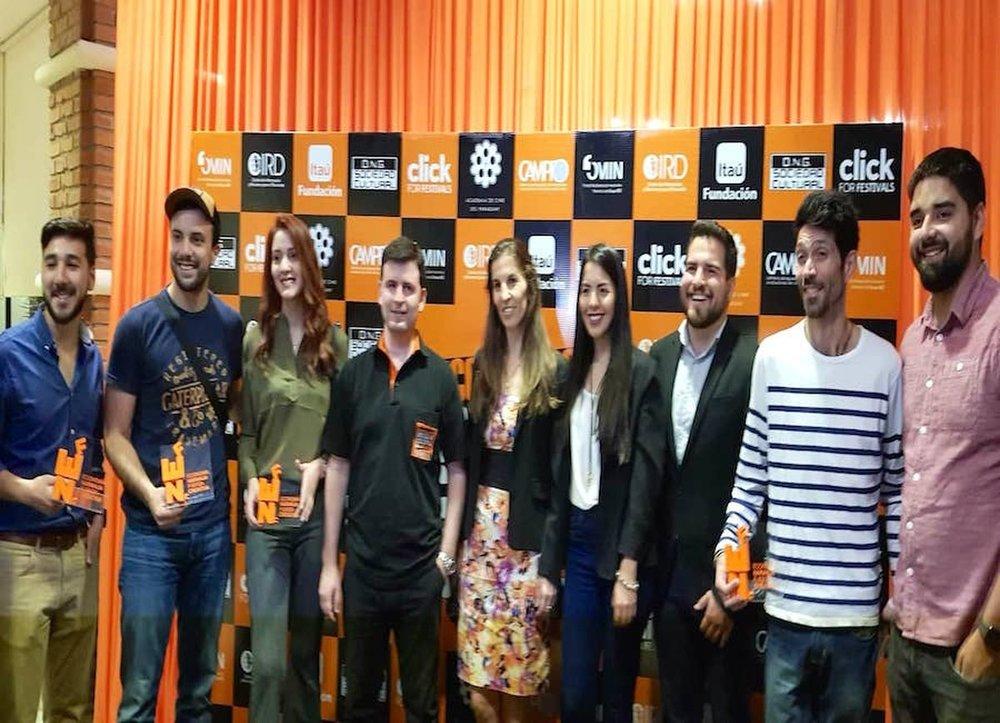 Los ganadores que acudieron el sábado pasado a la gala en Coronel Oviedo.FOTO: GENTILEZA