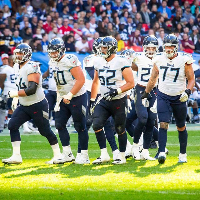 The Tennessee Titans @titans Offensive Line in Wembley Stadium, October 21st, 2018. #NFL #NFLUK