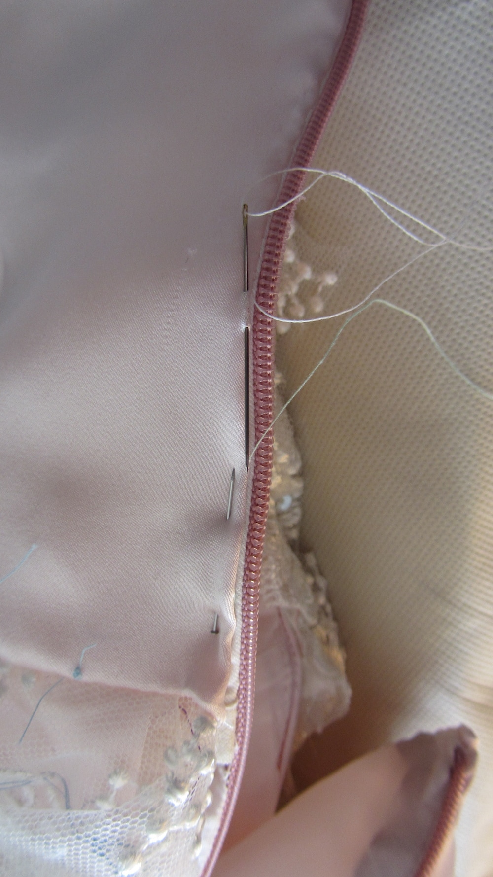 Handmade wedding dress back bodice.JPG