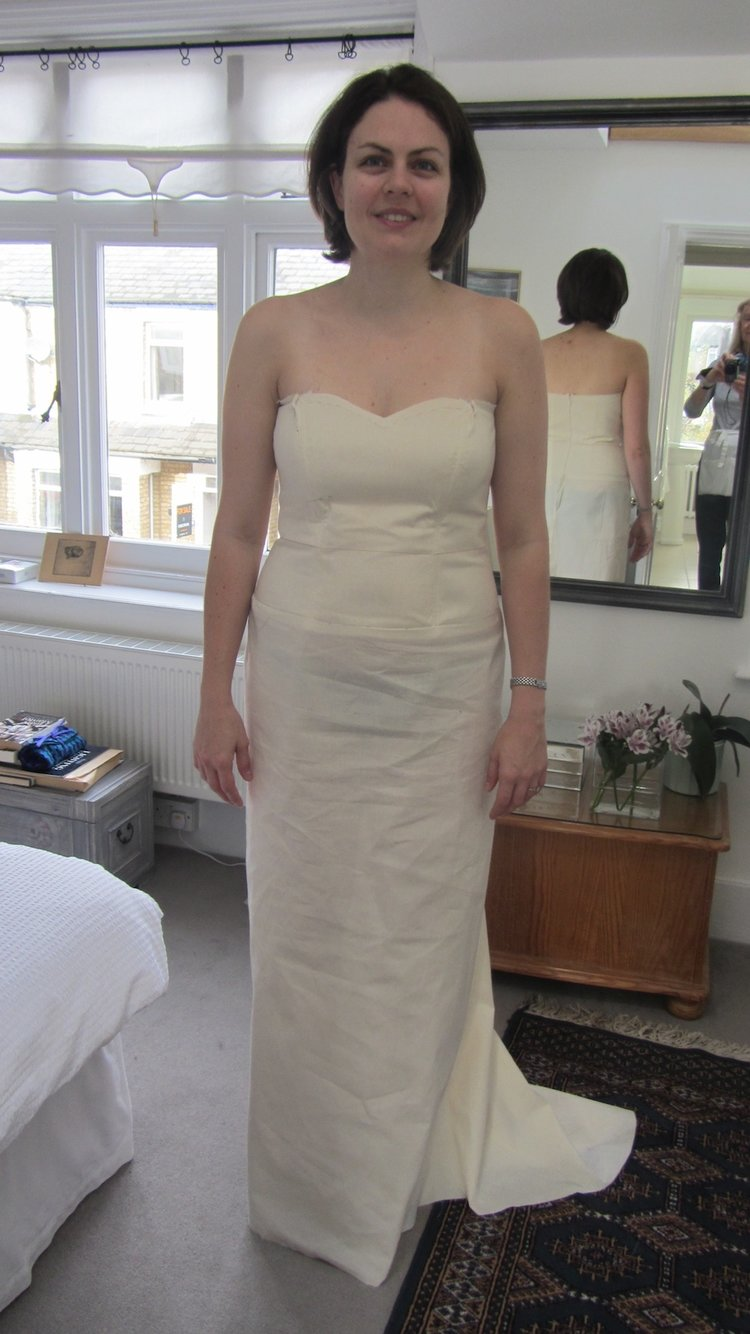 Wedding dress - The Pattern and Silk Satin Bodice — I Want To Be A ...