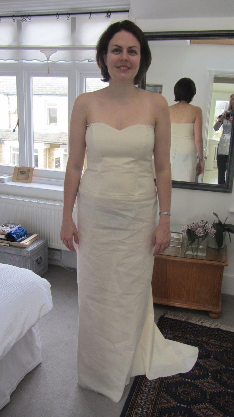 Handmade Wedding Dress Toile 2