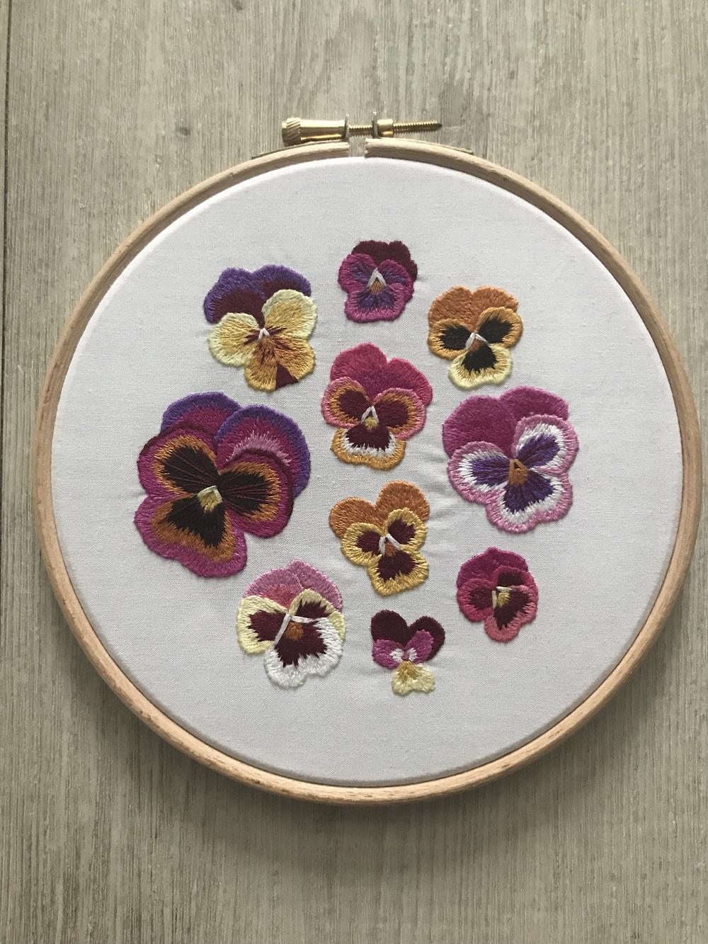 Emillie Ferris Multi Pansy Embroidery Hoop Art.jpg