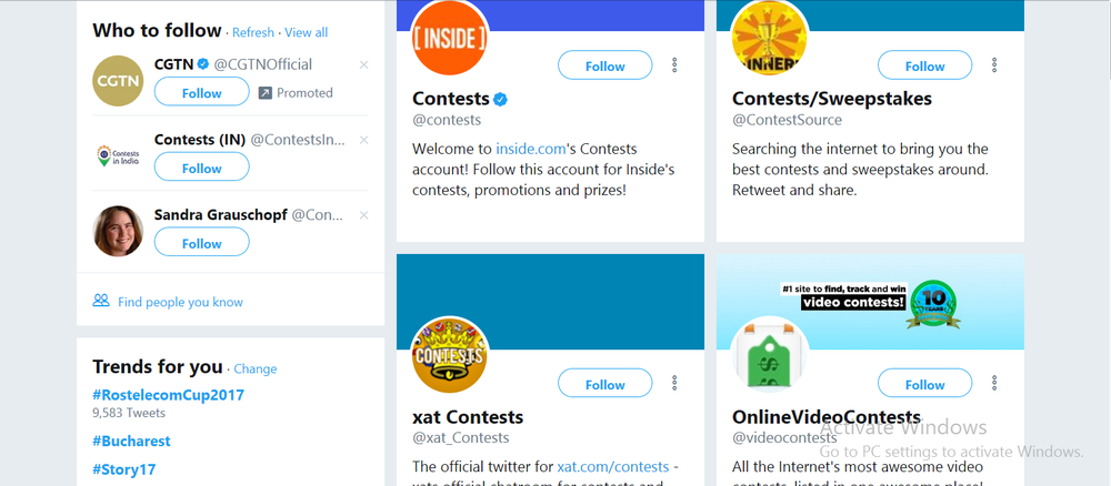 Organize contests to increase your following